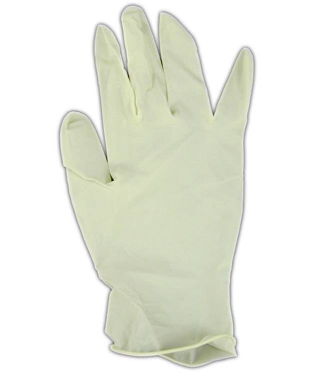 17.107 = Latex Gloves Medium Size (Pack of 10pcs)