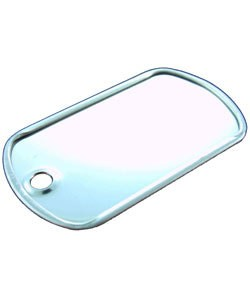 "208SC-21 = DOG TAG SILVER COLOR 1-1/2""x7/8"" (Pkg of 7)"
