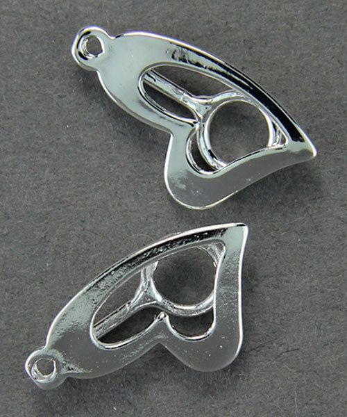 3206SP = StoneSett Tension Mount by Beadalon Drop Stylish Heart, Loop, fits 5-9.0mm stones, 2pcs