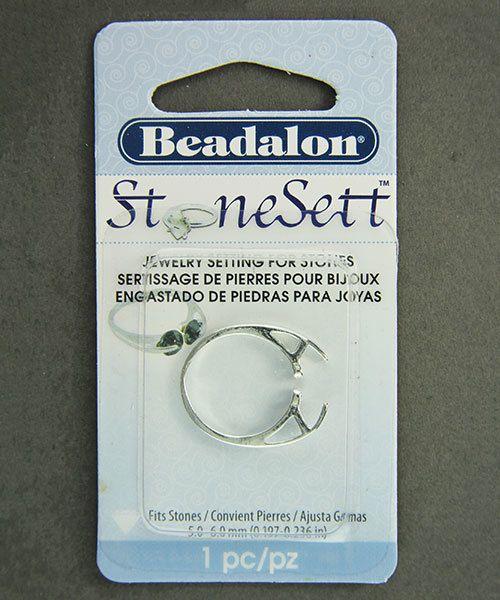 3211SP = StoneSett Tension Mount Ring by Beadalon Dbl Facing sz 4-8, fits 5-6.0mm stones, 1pc