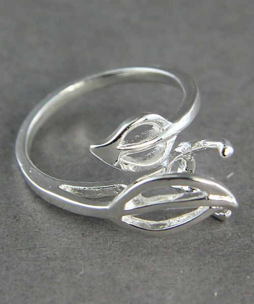 3212SP = StoneSett Tension Mount Ring by Beadalon 2 Leaf sz 5-10, fits 6-8.0mm stones, 1pc
