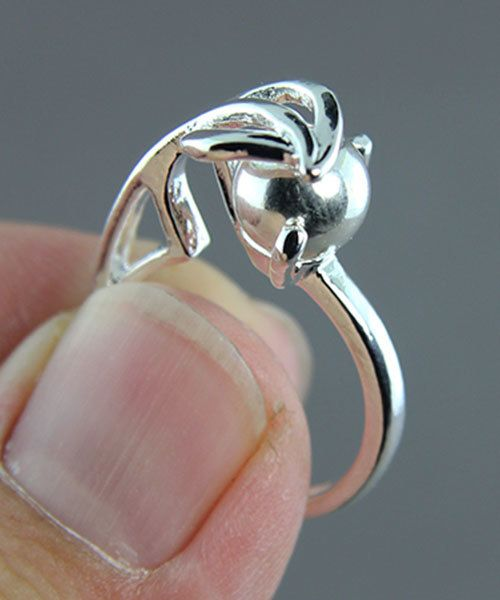 3213SP = StoneSett Tension Mount Ring by Beadalon Leaf sz 5.5-7, fits 7-8.0mm beads/9.0mm stone, 1pc