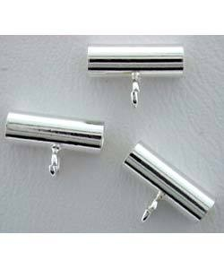 5120S-01 = Straight Tube Bail with Ring 2.8 x 8mm Sterling Silver (Pkg of 5)