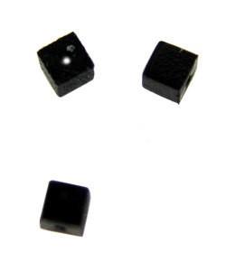 5140CB-92 = Bead Bumper 1.7mm CUBE BLACK (Pkg of 50) **CLOSEOUT**