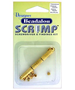 585C-80 = Beadalon Scrimps Kit Gold Plated