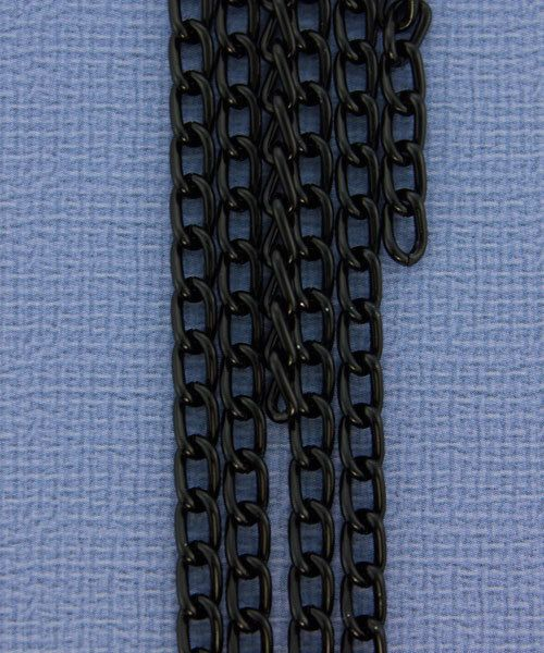 800AL-063BK = Aluminum Curb Chain Black 6 x 3.6mm Wide 5 feet Long