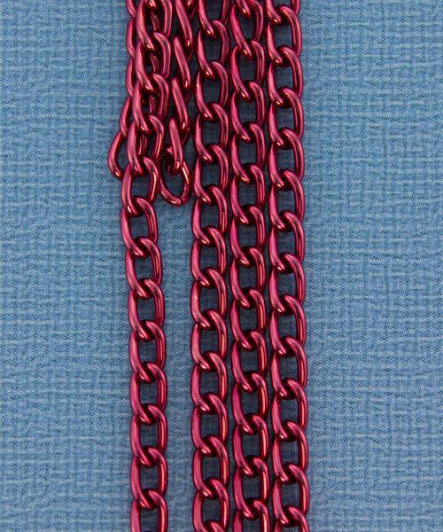 800AL-063RD = Aluminum Curb Chain Red 6 x 3.6mm Wide 5 feet Long