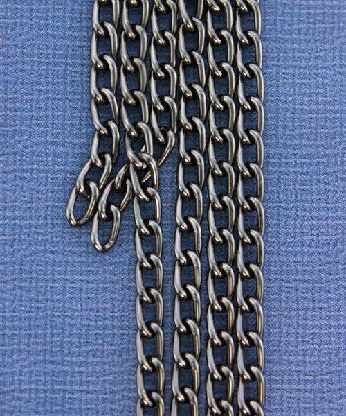 800AL-063TU = Aluminum Curb Chain Taupe 6 x 3.6mm Wide 5 feet Long