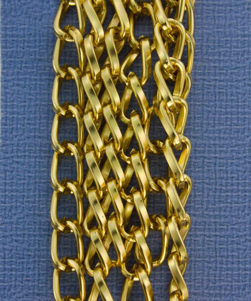 800AL-095BG = Aluminum Curb Chain Bright Gold 9.3 x 5.3mm Wide 5 feet Long