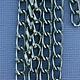 800AL-095HE = Aluminum Curb Chain Hematite 9.3 x 5.3mm Wide 5 feet Long