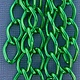 800AL-149KG = Aluminum Curb Chain Kelly Green 14.4 x 9mm Wide 5 feet Long