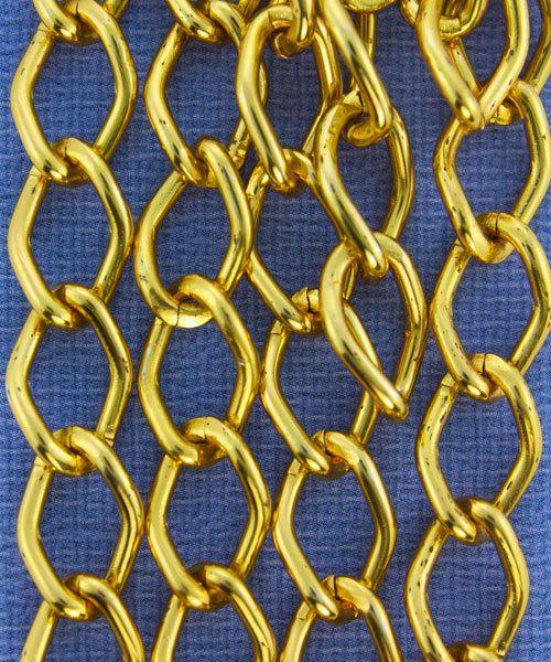 800AL-149TG = Aluminum Curb Chain Tangerine 14.4 x 9mm Wide 5 feet Long