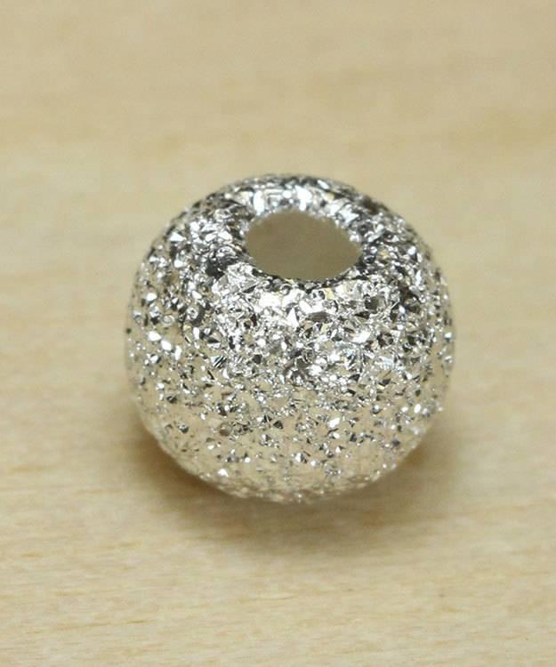ABS-SD6 = Stardust Finish Bead Sterling Silver 6mm (Pkg of 10)