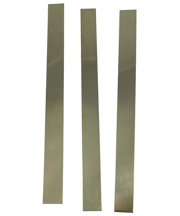 """BS16-12X1 = Red Brass Sheet 16ga 12"""" x 1"""" 1.30mm Thick (Pkg of 3)"""