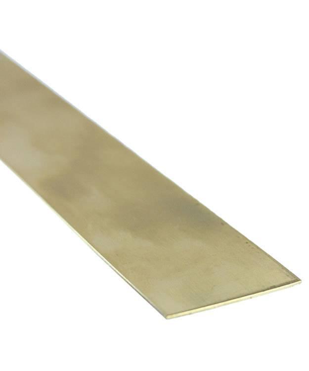 """BS20-12X1 = Red Brass Sheet 20ga 12"""" x 1"""" 0.8mm Thick (Pkg of 3)"""