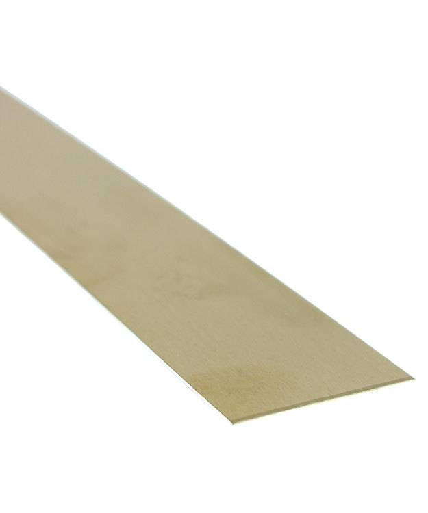 "BS22-1 = Red Brass Sheet 22ga  1"" x 6"" .64mm Thick  (Pkg of 6)"