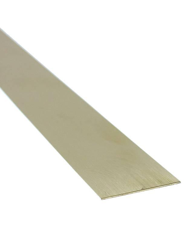 """BS26-1 = Red Brass Sheet 26ga  1"""" x 6"""" .41mm Thick  (Pkg of 3)"""