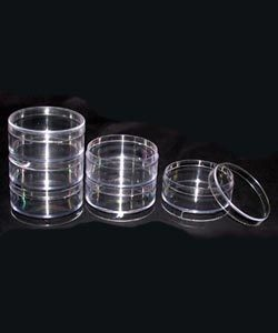"BX4103 = BOX STACKABLE PARTS 6PC CLEAR ROUND 2.5"" DIA"
