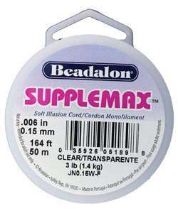 "CD3106W = Supplemax .006"" Clear 50m Spool"