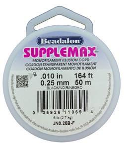 "CD3110B = Supplemax .010"" Black 50m Spool"