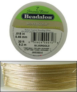 "CD40718SG = Beadalon 7  .018""  SILVERGOLD 30 FT Spool"