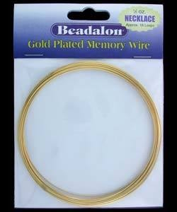 CD45003K = Memory Wire NECKLACE SIZE GOLD PLATED (1/2oz Pkg)