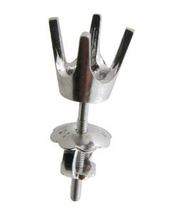 100W-50 = Earring Round 4 Prong Screwback 5.0mm 14KW