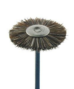16.611 = MOUNTED DOUBLE BRISTLE WHEEL DIXEL BRUSHES  3/4'' MEDIUM (Pkg of 12)