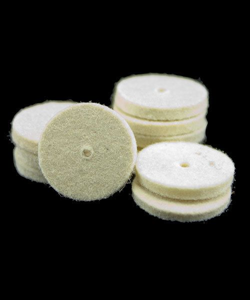 17.367 = Felt Midget Buff 3/4'' Soft Square Edge Wheel (Pkg of 25)