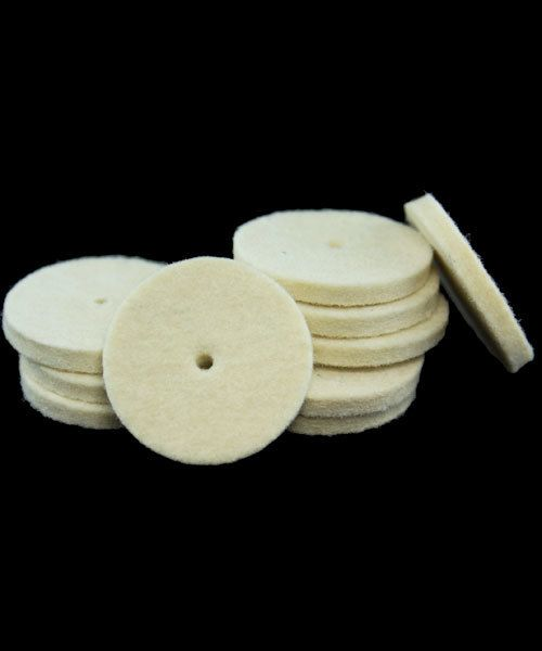 17.376 = Felt Midget Buff 1'' Soft Square Edge Wheel (Pkg of 25)