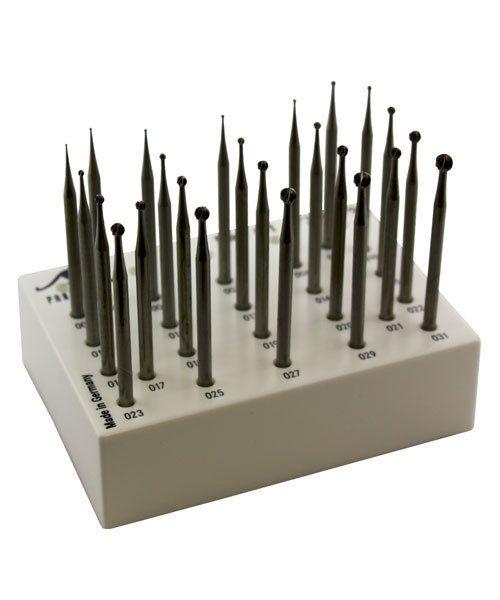 18.100G = ROUND BUR SET TUNGSTEN/VANADIUM 24pcs (0.4 to 3.1mm)