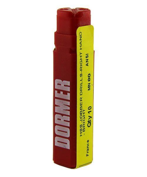 28.0536-80 = Dormer High Speed Twist Drills 0.343mm/0.0135'' (Pkg of 10)