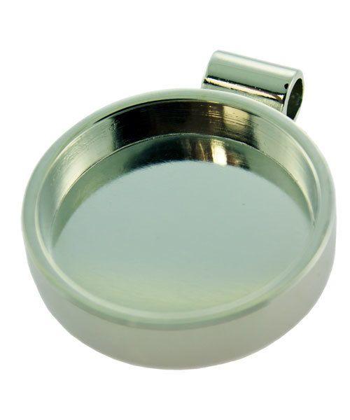 3000SC-43 = Round Pendant 1-1/16'' ID Silver Color