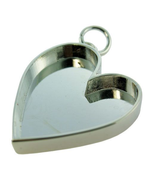 3000SC-45 = HEART PENDANT 1-1/2''x1-1/8'' ID SILVER COLOR