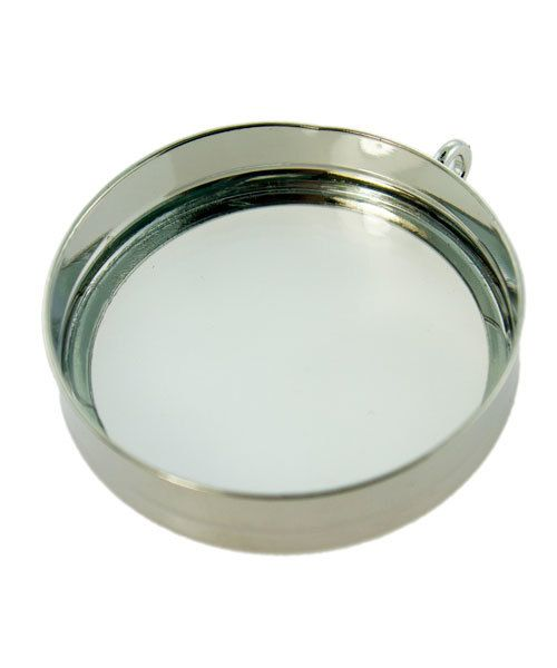 3000SC-48 = LOOKING GLASS PENDANT 1-3/16'' ID SILVER COLOR