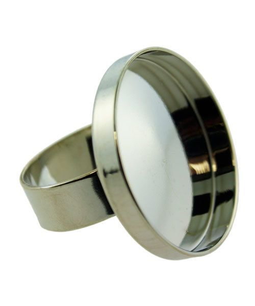 3000SC-51 = Round Bezel Ring 1'' ID Silver Color