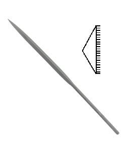 31.458 = FILE - NEEDLE BARRETTE 00 CUT 6.25''