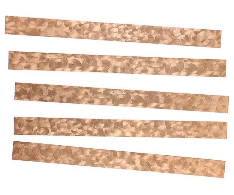 "CSP352 = Patterned Copper Strips 6"" x 1/2""  24ga (Pkg of 5)"