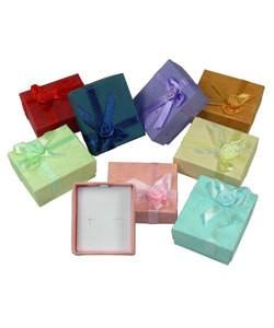 DBX2002 = BOXES - PASTEL EARRING BOX (CASE/96pcs ASSORTED COLORS)