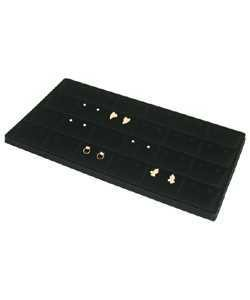DER1964 = FLOCKED EARRING TRAY INSERTS 24 PAIR