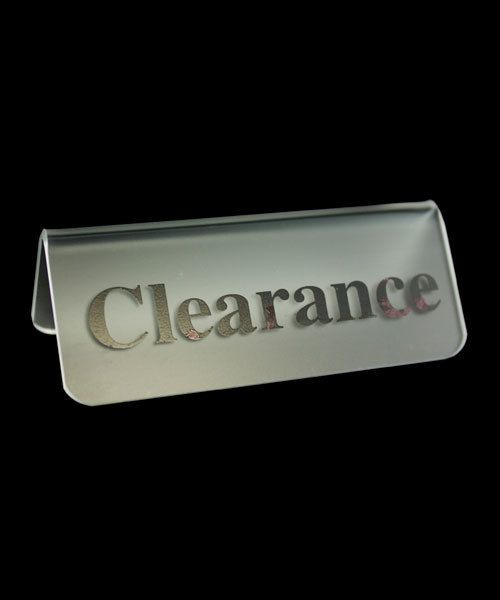 "DSI5521 = Frosted Acrylic Sign with Black Letters 3""x1""  CLEARANCE  (Pkg of 3)"