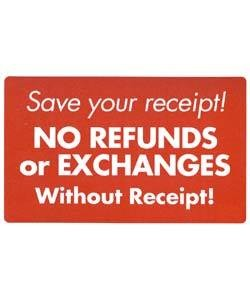 "DSI5928 = Sign Plastic - ""SAVE YOUR RECEIPT"" 7x11"