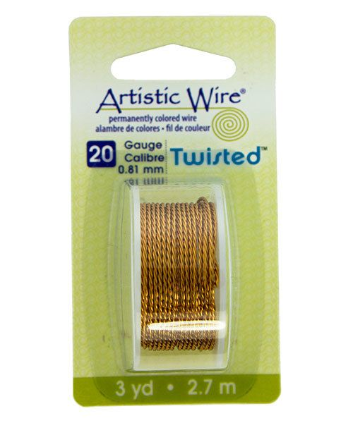 WR41420 = ARTISTIC WIRE DISPENSER PACK TWIST NATURAL 20ga 3 yards **CLOSEOUT**