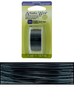 WR26926 = Artistic Wire Dispenser Pack SP HEMATITE 26ga 15 YARD