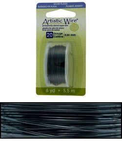 WR26920 = Artistic Wire Dispenser Pack SP HEMATITE 20ga 6 YARD