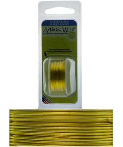 WR26222 = Artistic Wire Dispenser Pack SP LEMON 22ga 8 Yards