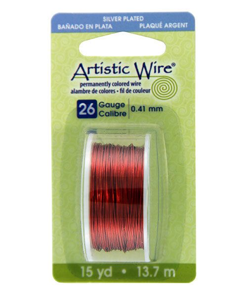 WR26126 = Artistic Wire Dispenser Pack SP TANGERINE 26ga 15 Yards