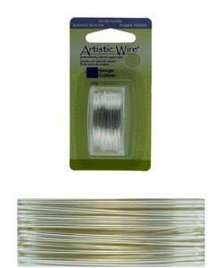 WR26034 = Artistic Wire Dispenser Pack SP TARNISH RESISTANT SILVER 34ga 30 Yards
