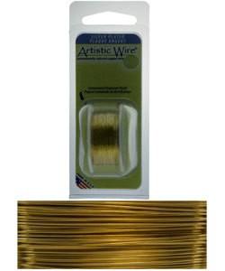WR25324 = Artistic Wire Dispenser Pack SP GOLD 24ga 10 Yards