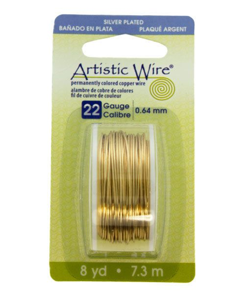 WR25322 = Artistic Wire Dispenser Pack SP GOLD 22ga 8  Yards